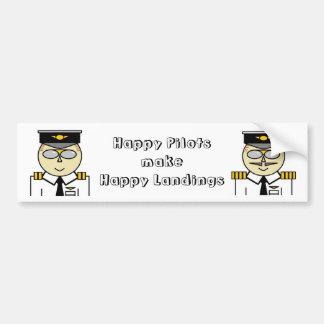 De gelukkige loodsen maken gelukkige landingsBumpe Bumpersticker