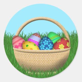 De gelukkige Mand van Pasen Ronde Sticker