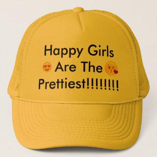 de gelukkige meisjes zijn het meest mooie trucker pet