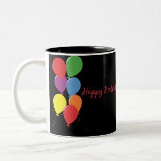 De gelukkige Mok van de Koffie van de Ballons van