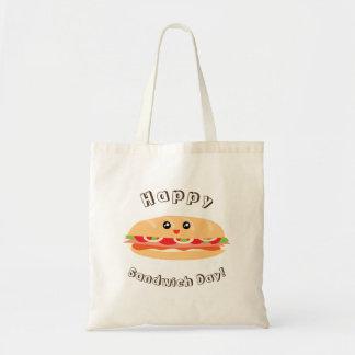 De gelukkige Nationale Leuke Dag van de Sandwich Draagtas