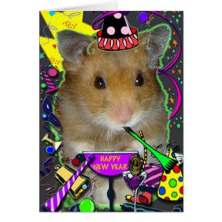 De gelukkige Nieuwjaarskaart van de Hamster Briefkaarten 0