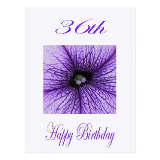De gelukkige paarse Bloesem van de 36ste Briefkaart