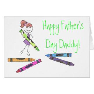 De gelukkige Papa van het Vaderdag! Kaart