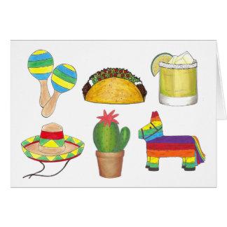 De gelukkige Partij van de Fiesta van Cinco DE Briefkaarten 0