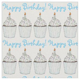 De gelukkige Partij van de Verjaardag Blauwe Stof