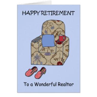 De Gelukkige Pensionering van de makelaar in Wenskaart