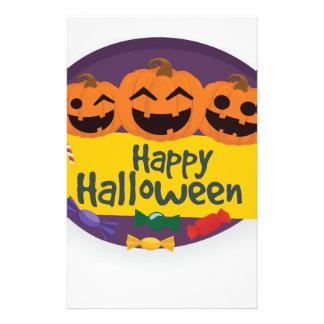 De gelukkige Pompoen van Halloween Briefpapier