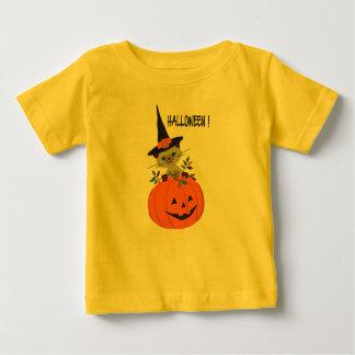 De gelukkige pompoen van Halloween met kleurrijke Baby T Shirts