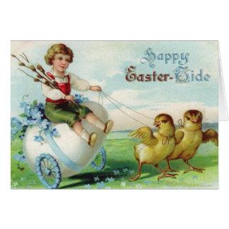 De gelukkige Rit van Pasen Wenskaart