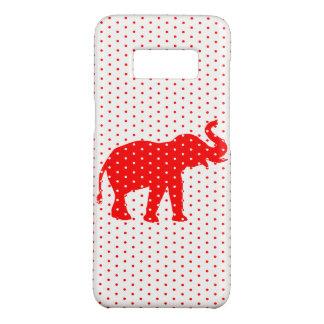 De gelukkige Rode droom van de Olifant polkadot Case-Mate Samsung Galaxy S8 Hoesje