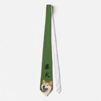 De gelukkige Rode Japanse Hond van Shiba Inu Feest Stropdas