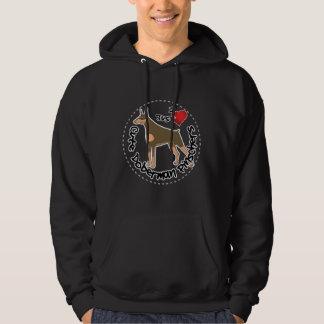 De gelukkige Schattige Grappige & Leuke Hond van Hoodie