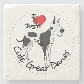 De gelukkige Schattige Grappige & Leuke Hond van Stenen Onderzetter