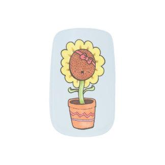De gelukkige Spijkers van de Zonnebloem Minx Nail Folie