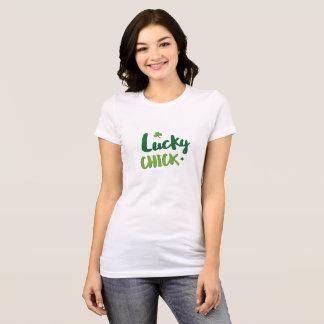 De gelukkige St. Patrick van het kuiken T-shirt