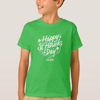 De gelukkige St Patricks Ierse Gepersonaliseerde T Shirt