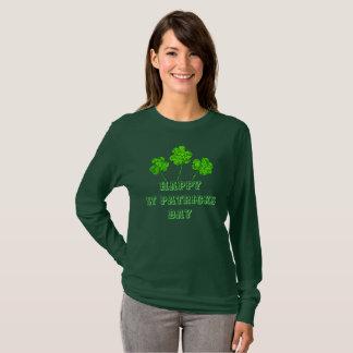 De gelukkige St Patricks Klavers van de Klavers T Shirt