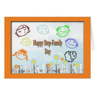 De gelukkige Step-Family Kaart van de Dag