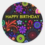 De gelukkige Stickers van de Verjaardag