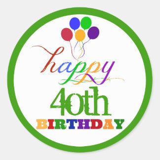 De gelukkige Stickers van de Verjaardag met de