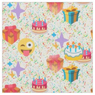 de gelukkige stof van verjaardagsemoji