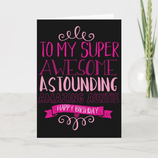 De Gelukkige Tante Van De Verjaardag Kaart Zazzle Nl