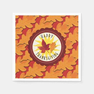 De Gelukkige Thanksgiving van de Kleuren van de Wegwerp Servetten