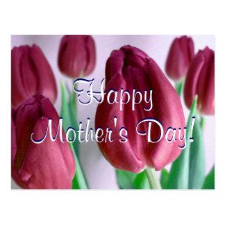 De gelukkige Tulpen van Rosey van het Moederdag Wenskaart