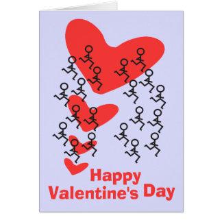 De Gelukkige Valentijnsdag van de agent Wenskaart