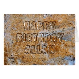 De Gelukkige Verjaardag Allan van het stenen Briefkaarten 0