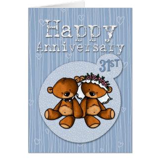 de gelukkige verjaardag draagt - 31 jaar briefkaarten 0