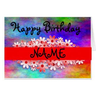 De gelukkige Verjaardag past Naam aan Briefkaarten 0