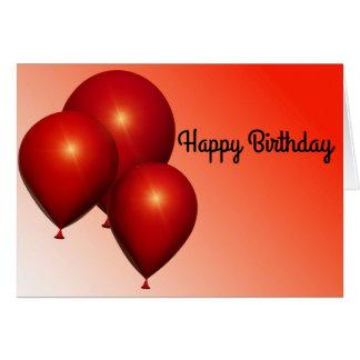 De Gelukkige Verjaardag van de ballon Wenskaart