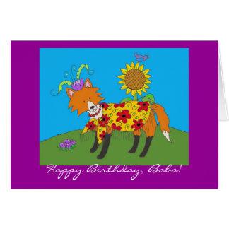 De Gelukkige Verjaardag van de Vos van de partij! Briefkaarten 0