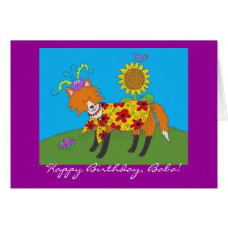 De Gelukkige Verjaardag van de Vos van de partij! Wenskaart