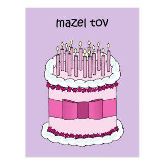 De Gelukkige Verjaardag van het Jiddisch van Mazel Briefkaart