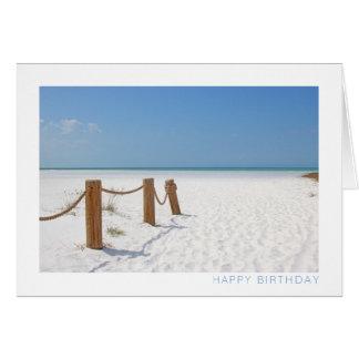 De Gelukkige Verjaardag van het strand Kaart