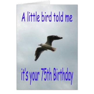 De gelukkige vogel van de Zeemeeuw van de 75ste Kaart