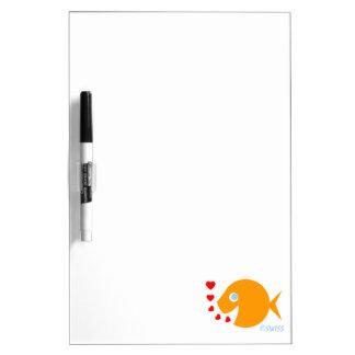 De gelukkige Vrolijke Blazende Kussen van de Whiteboard