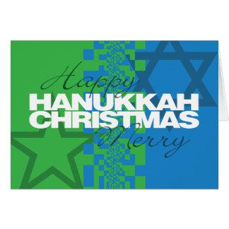De gelukkige Vrolijke Kerstkaart van de Chanoeka Kaart