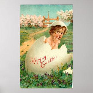 De gelukkige Wijnoogst van het Baby van Pasen Poster