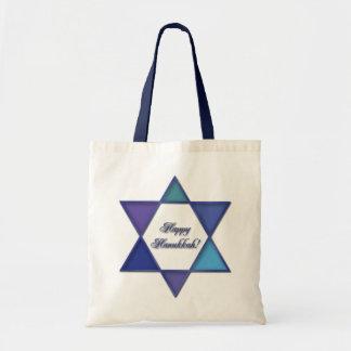 De gelukkige Zak van de Jodenster van de Chanoeka Draagtas
