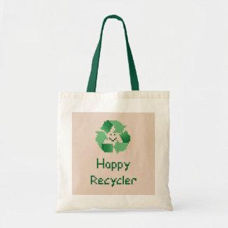 De gelukkige Zak van het Bolsa van de Recycleermac Draagtassen