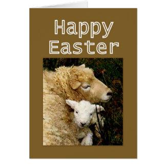 De gelukkige Zegen van Pasen - Ooi en Lam Briefkaarten 0