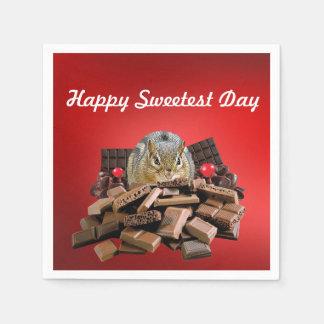 De gelukkige Zoetste Aardeekhoorn van de Dag Wegwerp Servet