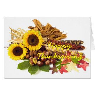 De gelukkige Zonnebloemen van de Thanksgiving Wenskaart