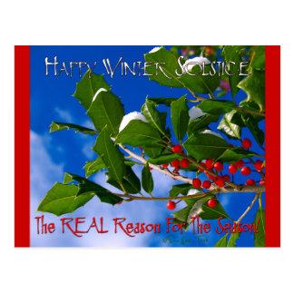 De gelukkige Zonnestilstand van de Winter Briefkaart