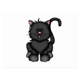 De gelukkige Zwarte Kat van Halloween Briefkaart