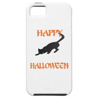De gelukkige Zwarte Kat van Halloween Tough iPhone 5 Hoesje